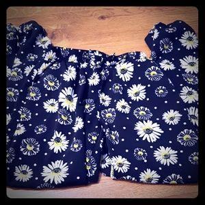 Girls Cuffed Ankle Daisy Dress Pants